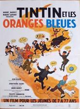 TINTIN ET LES ORANGES BLEUES / HERGE - REISSUE FRENCH MOVIE POSTER
