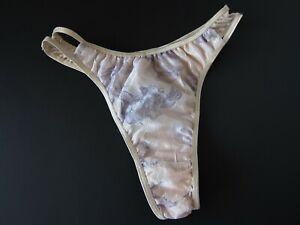1 NWOT Unbranded VINTAGE 90s High Hip Thong Panties SMALL