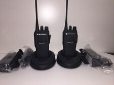 2 Motorola Cp150 Uhf 4 Channel Radios With Battery And Chargers