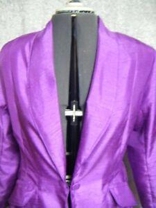 Ladies Size 16 Saddleseat Shawl Day Jacket/Suit/Coat Raspberry Shantung Fabric