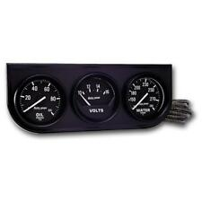 Auto Meter Gauge Set 2397 Auto Gage 2 116 Water Tempvoltsoil Pressure Black
