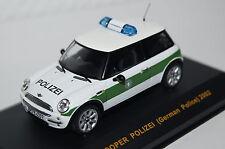 Mini Cooper Polizei 2002 grün-weiß Ixo neu & OVP MOC057