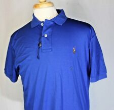 POLO RALPH LAUREN BLUE PIMA SOFT TOUCH Pony Polo SHIRT LARGE NEW No Tags