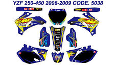 5038 YAMAHA YZF 250 450 2006 2007 2008 2009 DECALS STICKERS GRAPHICS KIT