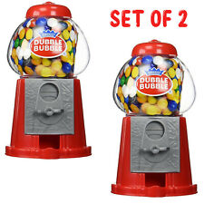 More details for 2 x gumball machine bubble gum sweet dispenser mini retro toy fun coin candy