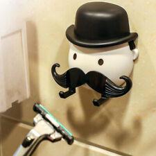 Shaver Mustache Toothbrush Holder Washroom Wall Sucker Suction Cup Hook Razor