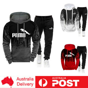 2Pcs Set Hoodies Men Tracksuit Sweatshirt Pants Bottoms Sport PUA Jogging Suits