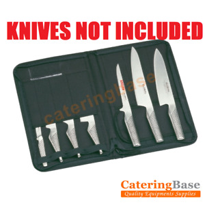 Professional Knife Wallet Case Chef Knives Roll 7 Compartments Black Wipe Clean