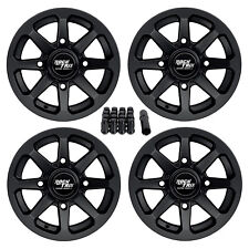 "12"" RockTrix RT102 ATV Wheels Rims - for Polaris Sportsman RZR Ranger 12x7, 4+3"