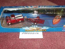 100 % HOTWHEELS SMOKE & WATER 1959 CHEVY PU, TRAILER & CRACKERBOX RACER BOAT