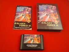 Galaxy Force 2 II  (Sega Genesis 1992) COMPLETE w/ Box manual game WORKS! CIB H1
