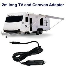 NEW 2M Long - 12v DC POWER CABLE CORD CIGAR ADAPTOR For TV DVD CHARGER, CARAVAN
