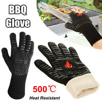932°F Heat Proof Resistant Oven BBQ Gloves 14 Inch Kitchen Cooking Silicone
