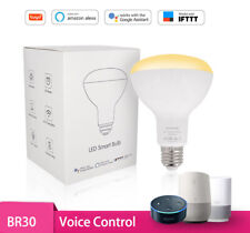 BR30 Dimmable Wi-Fi Smart LED Bulbs Amazon Alexa Google IFTTT For Voice Control