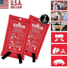 Emergency Fire Blanket 2X Quick Release In Case For Home&Office 1mx1m Us Stock