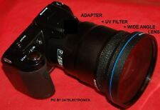 0.43x WIDE ANGLE LENS 72mm+UV FILTER+ADAPTER for FUJI S3400 S 3400 HD S3400HD