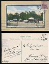 ARGENTINA 1913 PPC BOMBEROS to RHODESIA BULAWAYO MACHINE RECEIVER + GODOY HS