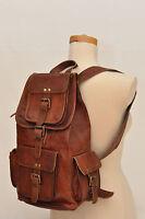 New Vintage Men's Genuine Leather Luggage Backpack travel bag