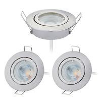 3er Set EXTRA flach LED kristall Decken-Einbaustrahler Downlight 230V 5W dimmbar