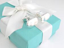 Tiffany & Co Silver Elsa Peretti Bean Cuff Link Cufflinks Links