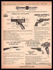 1962 CROSSMAN 600 Single -Action 6 HAHN 166 & 45 Pellet BB Gun PRINT AD