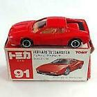 Secondhand Minicar 1/60 Ferrari Vestarossa Red Box Made In Japan Tomica No.91