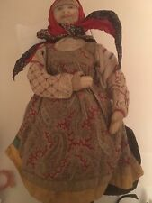 Vintage Doll Ryasan District Woman Russian Cloth 1920's Peasant Soviet Union