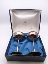 """Vintage Pair Elberti Italy 6"""" Goblets Silver/Silverplate El Delberti w/ Box Nice"""