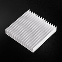 Durable Aluminum HeatSink Cooling Fin Fr CPU IC LED Power White 100x100x18mm