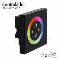 Controlador PARED TACTIL TIRAS LED RGB en CRISTAL NEGRO
