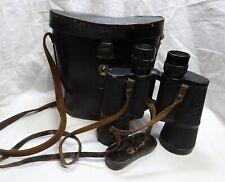 Wwii German Binoculars & Case 7x50 Dienstglas bmk 194(3) Wehrmacht