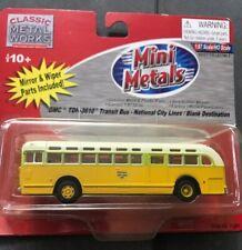 Classic Metal Works Mini Metals Gmc Tdh 3610 Transit Bus -National City Lines