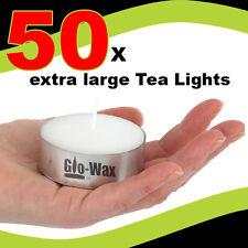 Glo-wax Extra Large 10hr Long Burn Tea Lights Tealights Delivery UK SELLER