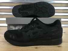 Asics Tiger Gel-Lyte III 3 Running Shoes Triple Black Leather SZ ( H7N3N-9090 )