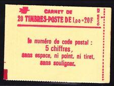 FRANCE CARNET 1972-C3 ** MNH carnet fermé, conf. N° 6, TB, cote: 48 € (L1)