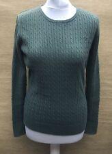 CREW Clothing Green Cotton Jumper UK 12