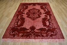 Vintage Over-Dyed Turquoise/Green Handmade Melas Rug  6 Ft x 9 Ft  Free Shipping