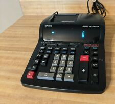 Casio DR-250TM | 12 Digit Printing Calculator | Heavy-Duty Clock Calendar Black