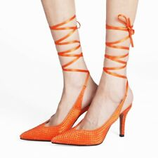 Ladies High Heels Stiletto Slingback Sandals Pump Ankle Strappy Evening Shoes