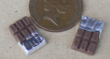 1:12 Scale 2 Chocolate Bars Dolls House Miniature Sweets Shop Kitchen Accessory
