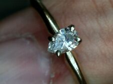 14 KT YELLOW GOLD PEAR SHAPED DIAMOND ENGAGEMENT RING