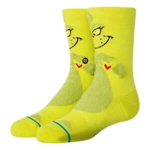 Stance 3D Grinch Socks - Green - Large NEW