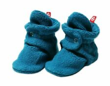 For Infants Zutano Cozie Fleece Baby Booties with Faux-Fur Lining and Grippers Babies Heather Gray Furry and Toddlers Unisex 12M