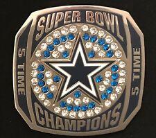 Dallas Cowboys 5 Time Super Bowl Champions Large Rhinestone Limited Edition Pin