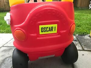 3D Printed personalised - Little Tikes Number Plate for COZY COUPE CAR