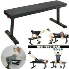 Sit Up Bench Flat Weight Bench with Sewn Vinyl Seat In Home Workout Fitness Gym