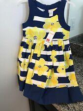 Gymboree girls blue/white striped dress flowers sundress Easter 4/4T toddler