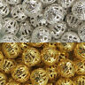Craft Gold/Silver Plated Metal Filigree Round Spacer Beads Choose 4/6/8/10/12MM