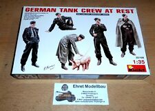 WWII German Tank Crew at Rest 5 Figuren + Schwein 1:35 MiniArt 35198 Neu