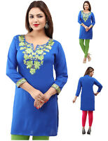 Unifiedclothes® Embroidery Bollywood Kurti Tunic Kurta Top Shirt Dress EY01A